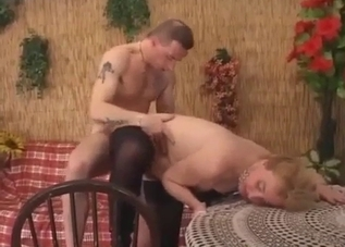 Blonde babe gets fucked by her son