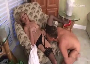 Busty blonde gets her pussy licked on cam