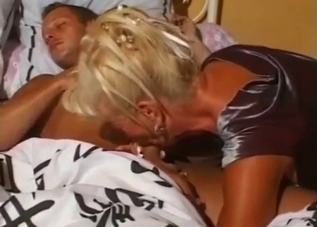 Blonde doll sucks her bro in bedroom