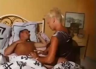 Blonde doll sucks her bro in bedroom