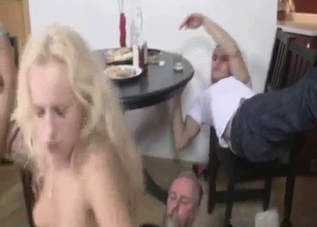 Skinny daughter fucked hard by her daddy