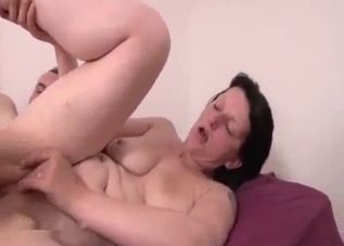 Busty brunette fucked hard in the bedroom