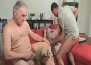 Filthy old dad fucked his young daughter