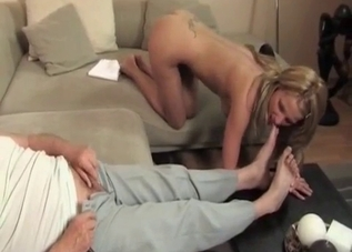 Submissive granddaughter and her daddy