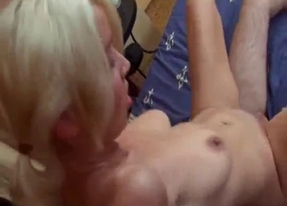 Amateur incest with a big-boobed sister