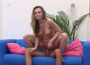 Small-tit blonde fucked in hardcore mode