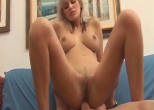 Busty blonde daughter banged by own daddy
