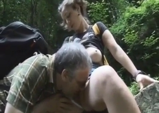 Busty beauty opens her pussy for her dad