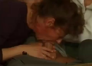 Good busty mother gives a stunning blowjob