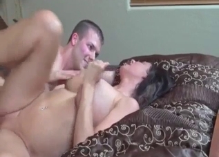 Cute brunette nailed hard by horny sibling