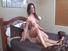Good busty brunette and hard loaded dick