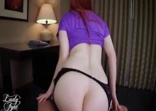 Stunning redhead mother is enjoying incest