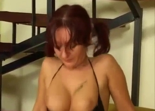 Amazing anal sex with passionate redhead mom