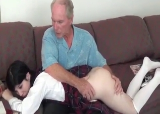 Old man fucked a very young granddaughter