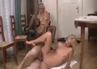 Awesome busty mom stimulates her cunt