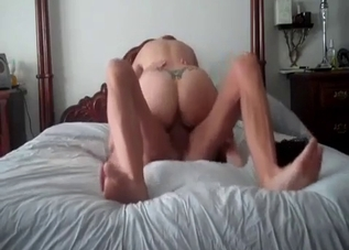 Big-ass chick jumps on her own stepbrother