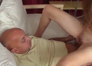 Sub niece gives her uncle a hot blowjob