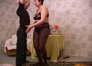 Chubby mother fucked by her stepson
