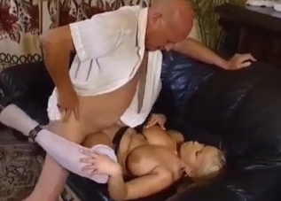 Blonde with big boobs fucked by uncle