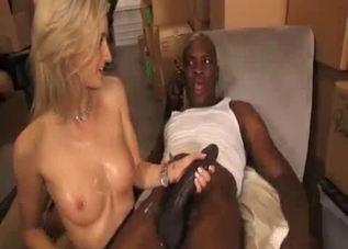 Perfect white doll and big black sausage