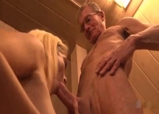Blonde blows my big cock with pleasure