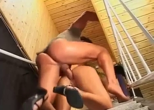 Anal sex with amazing high-heeled mom