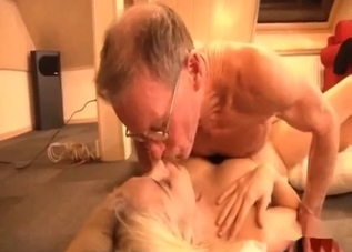 Fucking a sweet blonde in doggy style pose