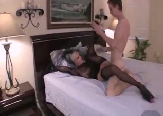 Big-ass mother fucked by her hot son