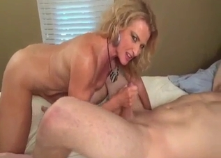 Amazing blonde is sucking it with passion