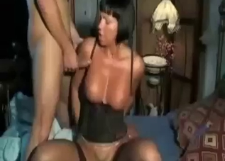 Busty aunt is being created for banging